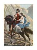 Viriato, the Hero of Lusitania, with His Wife Giclee Print by Tancredi Scarpelli