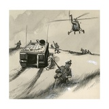 British Soldiers of the 1960s Giclee Print by  English School