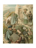 German Costume, Preussen an Der Mosel Giclee Print by Albert Kretschmer