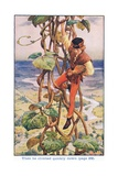 Then He Climbed Quietly Down, Jack and the Beanstalk, 1925 Giclee Print by William Henry Margetson