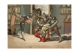 Death of Ramus Giclee Print by Josep or Jose Planella Coromina