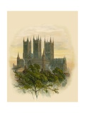Lincoln Cathedral, South West Giclee Print by Arthur Wilde Parsons