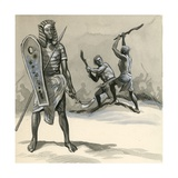 Ancient Egyptian Soldiers Training Giclee Print by  English School