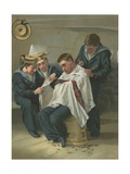 The Queen's Barber Giclee Print by G. Morton