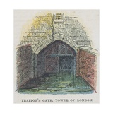 Traitor's Gate, Tower of London Giclee Print by  English School