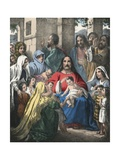 Christ Blessing Little Children Giclee Print by Siegfried Detler Bendixen
