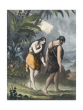 Adam and Eve Driven Out of Paradise Giclee Print by Siegfried Detler Bendixen