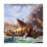 Battle of Salamis Giclee Print by Andrew Howat
