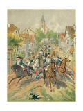 The Cuirassiers of Reichshoffen Giclee Print by Frederic Theodore Lix