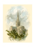 Norwich Cathedral, South East Giclee Print by Arthur Wilde Parsons