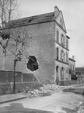 Effect of Cannon 75 Whose Shell Fired from Mont-Valerien Ended Up Rue Du Congres at Asnieres, 1915 Photographic Print by Jacques Moreau