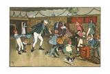 Christmas Fun Giclee Print by Cecil Aldin