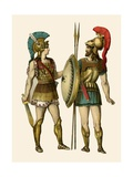 Greek Warriors Giclee Print by Albert Kretschmer