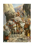 Hannibal Crossing the Alps Giclee Print by Tancredi Scarpelli