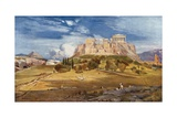 The Western End of the Acropolis Seen from Below the Pnyx Giclee Print by John Fulleylove