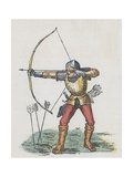 Foot Archer with Long Bow Giclee Print by  English School