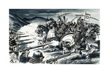 The Battle of Nagashino in 1575 Giclee Print by Dan Escott