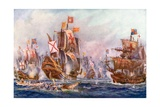 The Glorious Victory of Elizabeth's Seamen over the Spanish Armada, 1588 Giclee Print by Charles John De Lacy