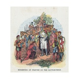 Knighting an Esquire on the Battle-Field Giclee Print by  English School
