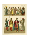 Persian Costumes Giclee Print by Albert Kretschmer
