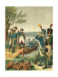 Napoleon and Massena in the Lobau Island Giclee Print by Frederic Theodore Lix