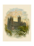 Canterbury Cathedral, South West Giclee Print by Arthur Wilde Parsons