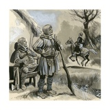 Informal Soldiers of the Type Defeated at the Battle of Hastings Giclee Print by  English School