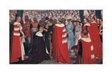 The Investiture of the Prince of Wales, c.1915 Giclee Print by Christopher Williams