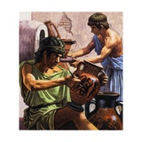 Greek Pottery Giclee Print by Roger Payne