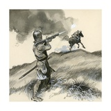 The First Pistols, Called Match-Locks Giclee Print by  English School