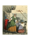 The Old Woman Saving Nell from Her Sister's Anger Giclee Print by Richard Redgrave