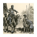 A Knight in Feudal Times Giclee Print by  English School