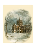 Hereford Cathedral, North West Giclee Print by Arthur Wilde Parsons
