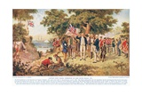Captain Cook Taking Possession of New South Wales, c.1910 Giclee Print by John Alexander Gilfillan