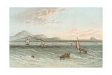 Edinburgh from the Firth of Forth Giclee Print by  English School