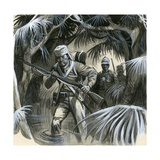 English Soldiers in India in the 19th Century Giclee Print by  English School