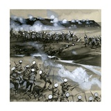 Russian Soldiers Being Slaughtered in the Attack on Plevna Giclee Print by  English School