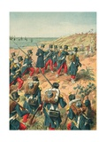 Landing of the French at Sidi-Ferruch Giclee Print by Frederic Theodore Lix