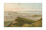 Edinburgh from Arthur's Seat Giclee Print by  English School