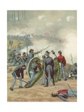 The Battle of Gettysburg Giclee Print by  North American