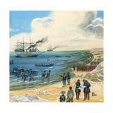 A Large French Army Arriving in Mexico Giclee Print by Gerry Embleton