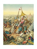 Capture of the Tribe of Abd El Kader Giclee Print by Frederic Theodore Lix