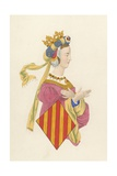 Queen Leanora of Arragon Giclee Print by Henry Shaw