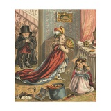 Children Dressing Up Giclee Print by  English School