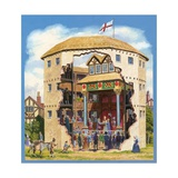 The Globe Theatre Giclee Print by  English School
