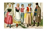Peasants of Hungary Giclee Print by Tancredi Scarpelli