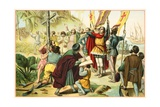 Columbus Taking Possession of the New World Giclee Print by  North American