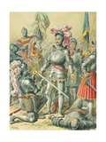 King Francis I at the Battle of Pavia Giclee Print by Frederic Theodore Lix
