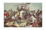 The Battle of Waterloo Giclee Print by Charles Auguste Steuben