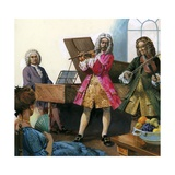 Bach Playing Music with Members of His Own Family Giclee Print by  English School